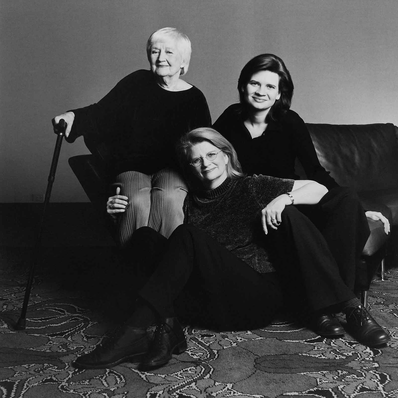 Geraldine Laybourne and her mother and daughter